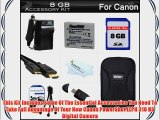 8GB Accessories Kit For Canon PowerShot ELPH 310 HS Digital Camera Includes 8GB High Speed