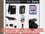 8GB Accessories Kit For Sony Cyber-Shot DSC-HX100V DSC-HX200V Digital Camera Includes 8GB High