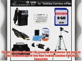 8GB Accessory Kit For Toshiba Camileo X100 H30 HD Camcorder Includes 8GB High Speed SD Memory