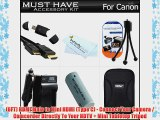 Must Have Accessory Kit For Canon PowerShot ELPH 510 HS ELPH 520 HS Digital Camera Includes