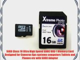 Zectron 16GB UHS-1 Micro Class 10 Memory Card for Olympus SP-810 UZ CAMERA