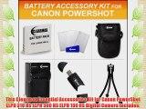 Clearmax Accessories Kit for Canon Powershot Elph 100 HS Elph 300 HS Elph 310 HS Digital Camera