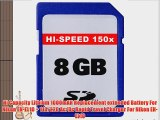 8GB Accessory Kit For Nikon Coolpix S3000 S4000 S80 S5100 S570 Digital Camera Includes 8GB