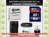 Clearmax? Canon Powershot Transcend 8gb Power Kit for Canon Powershot D10 D20 SX240 HS SX260