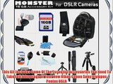 16GB Monster DSLR Accessory Kit For All Nikon Canon Sony Olympus Pentax DSLR's Includes 16GB