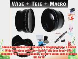 58mm Essential Lens Kit Includes 2x Telephoto Lens   0.45x HD Wide Angle Lens w/Macro   Flower