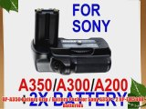 BP-A350 Battery Grip / Battery Pack for Sony A350   2 NP-FM500H Batteries