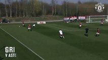 Manchester United youngster Callum Gribbin has some serious dribbling skills