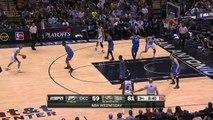 Tim Duncan's Rare 3-Pointer - Thunder vs Spurs - March 25, 2015 - NBA Season 2014-15