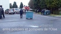 Oise : simulation de violences urbaines entre policiers et pompiers