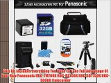 32GB Kit For Panasonic HDC-TM700K HDC-HS700K HDC-SDT750K HDC-SD600 Camcorder Includes 32GB