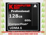 Komputerbay 128GB Professional Compact Flash Card CF 600X 90MB/s Extreme Speed UDMA 6 RAW 128