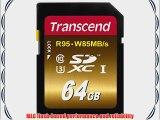 Transcend 64 GB High Speed 10 UHS Flash Memory Card (TS64GSDU3X)