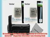 Vivitar Battery Grip for Nikon D3300 D3200 D3100 DSLR Cameras   2 Vivitar EN-EL14 / EN-EL14a