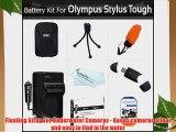 Accessories Bundle Kit For Olympus Stylus Tough 8010 6020 TG-610 TG-810 TG-820 iHS TG-830 iHS