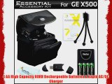 Essential Accessories Kit For GE POWER Pro series X500 X5 Power Pro X550 Digital Camera Includes