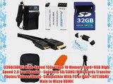 32GB Accessories Kit For Panasonic Lumix DMC-TS5 DMC-TS5D DMC-TS5K DMC-TS5A DMC-TS5S DMC-TS6