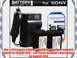 2PK Battery And Charger Kit For Sony HDR-CX130 HDR-CX150 HDR-CX160 HDR-CX560V HDR-CX700V HDR-PJ10