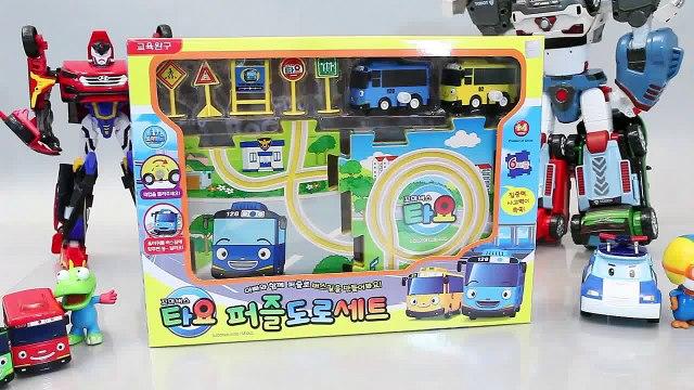 타요 꼬마버스 타요 퍼즐도로 폴리 뽀로로 또봇 카봇 장난감 Tayo the Little Bus мультфильмы про машинки Игрушки Car Toys