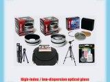 Olympus SP-570 SP-565 SP-560 SP-550 UZ Professional HD2 Digital Accessory Kit
