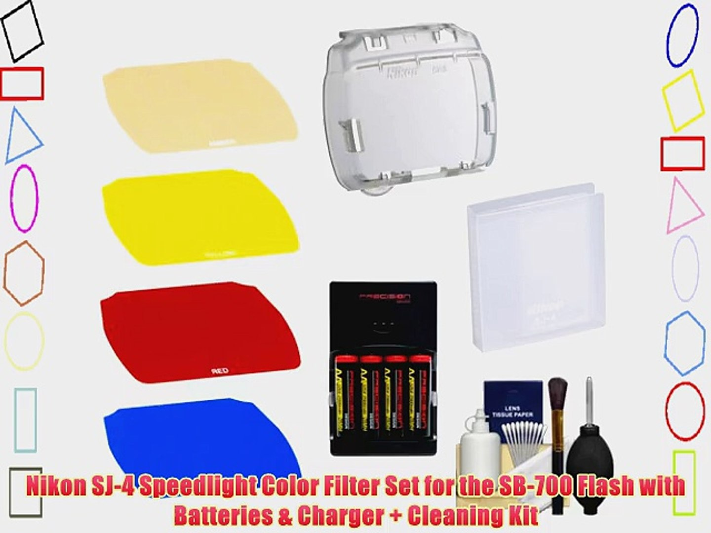 Nikon SJ-4 Speedlight Color Filter Set for the SB-700 Flash with Batteries