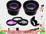 58mm All In Lens Kit FDigital Camera Includes HD .43x Wide Angle Lens   2.2x Telephoto Lens