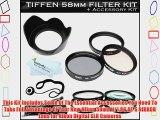 Tiffen 58mm Filter Kit For Nikon 50mm f/1.8G AF-S NIKKOR Lens for Nikon Digital SLR Cameras
