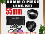 55mm DM Optics Macro Close Up Lens Kit 4 Piece ( 1  2  4  10)   3 Piece Filter Kit (UV CPL