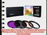 Polaroid Optics 49mm 4 Piece Filter Set (UV CPL FLD WARMING)