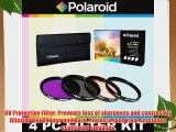 Polaroid Optics 4 Piece Filter Set (UV CPL FLD WARMING) For The Pentax K-X K-7 K-5 K-R 645D