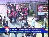 Miembros del Foro de Vivienda bloquean cruce de antigua Gallito en circunvalación