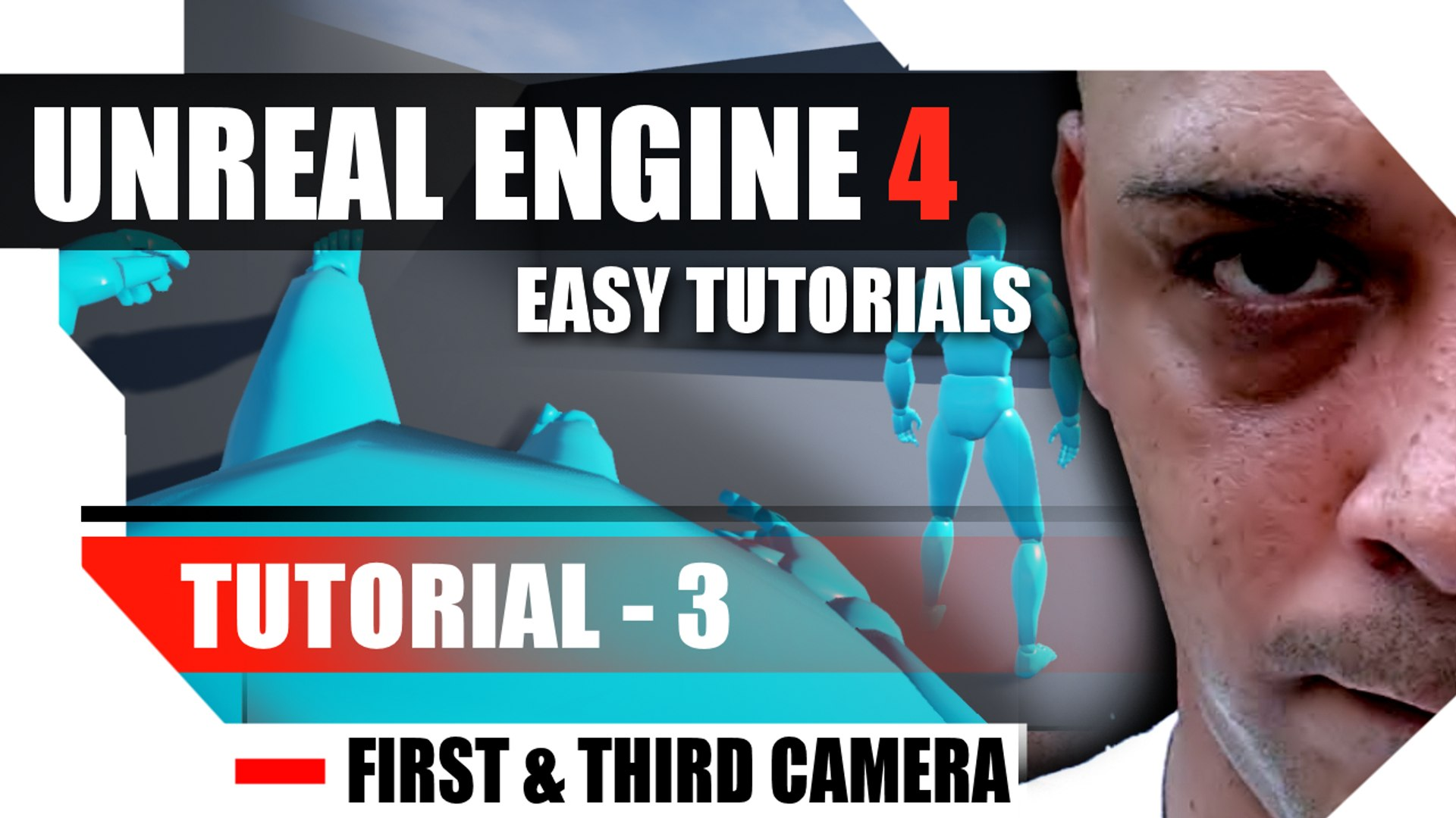 Unreal Engine 4 Complete Tutorials - Tutorial 3 - Changing from First to  Third person camera