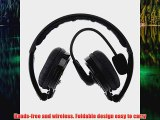 Patuoxun Foldable Stereo Bluetooth Headphones with Boom MIC Microphone Noise Canceling Earphones for iPhone 6 6 Plus iPh