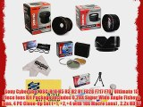 Sony CyberShot DSC-H10 H5 H3 H2 H1 F828 F717 F707 Ultimate 15 Piece lens Kit Package Includes