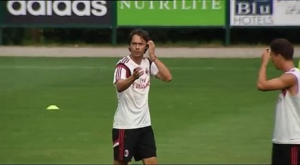 VIDEO - Inzaghi in allenamento