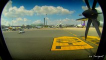 4K Timelapse between Bangkok Airport (Suvarnabhumi) and Trat Airport for going to Koh Chang thailand