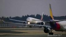 Emirates Airlines Boeing 777-300ER (A6-ECJ) landing at NRT/RJAA (Tokyo - Narita) RWY 34R
