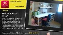 A vendre - maison - SABLE SUR SARTHE (72300) - 6 pièces - 93m²