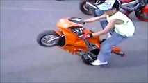 Stunts EPIC Motorcycle, scooter and dirt bike compilation   part 1