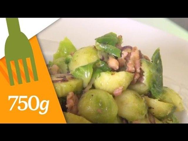 Recette de Poêlée de choux de Bruxelles aux lardons - 750 Grammes