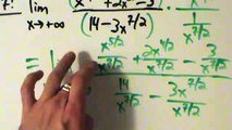 Calculus I - Limits - Limits at Infinity - Rational-ish Functions