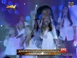 Karylle with Minstrels of Hope singing Say A Little Prayer