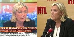 """Départementales : Le Pen dénonce les """"magouilles"""" de """"l'UMPS"""" et se tourne déjà vers les régionales"""