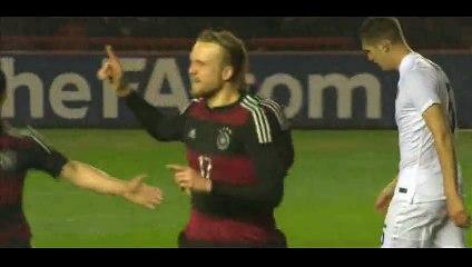 Goal Hofmann - England U21 (1-2) Germany U21 - 30-03-2015 Friendly Match