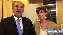 Véronique Bernardini et Francis Roux (UMP-UDI) élus  dans le canton de Hyères