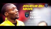 """Karl Toko Ekambi élu """"Joueur du Mois"""" de Mars"""