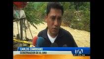 Siete barrios son afectados por las fuertes lluvias en El Oro