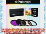 Polaroid Optics 4 Piece Filter Set (UV CPL FLD WARMING) For The Olympus OM-D E-M5 E-M1 E-M10