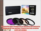 Polaroid Optics 62mm 4 Piece Filter Set (UV CPL FLD WARMING)
