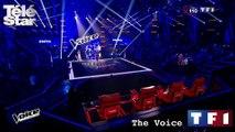 """The Voice - L'émotion de Zazie face l'interprétation de Yassine Jebli, sur la chanson """"Comme toi"""" de Jean-Jacques Goldman - Samedi 28 mars 2015"""